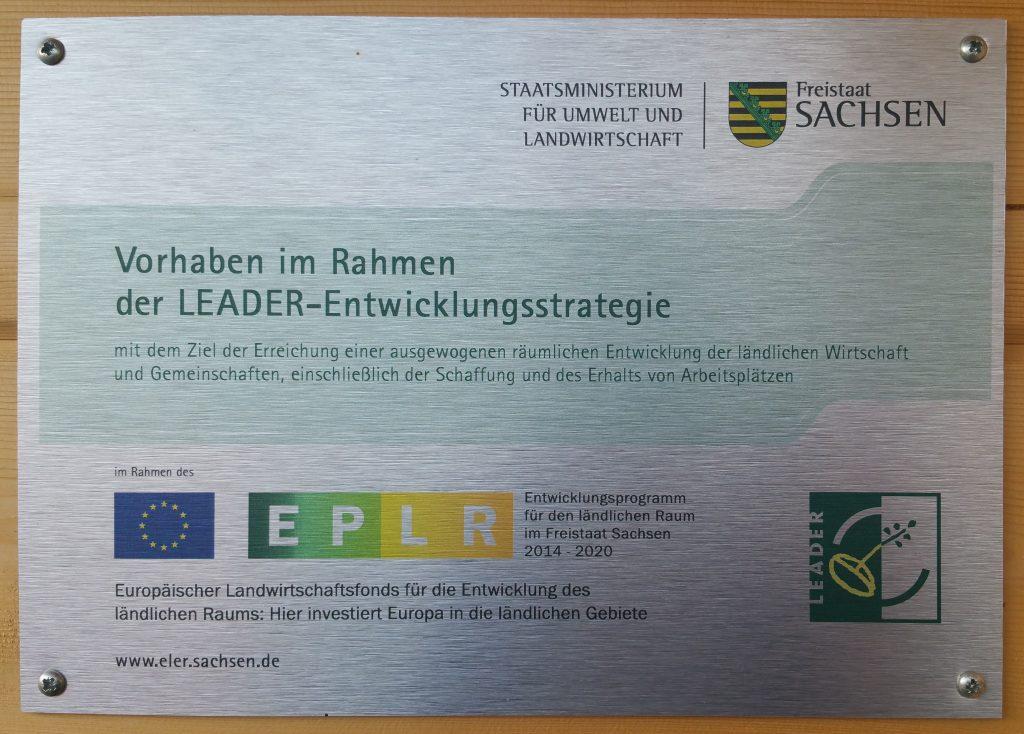 Wir haben Fördergelder für die Förderperiode 2014–2020 aus dem europäischen Landwirtschaftsfond für die Entwicklung des ländlichen Raumes in Sachsen für die Errichtung eines neuen Vereinsheims bekommen.