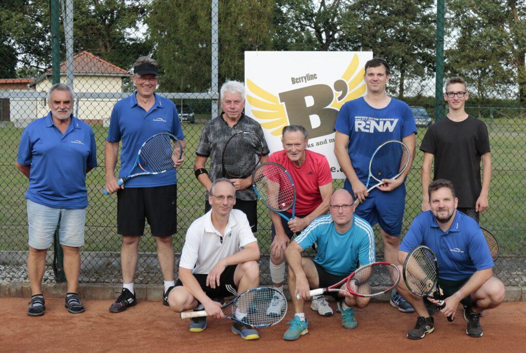 Die Teilnehmer des Doppelturniers um die Dreiheide Open 2020